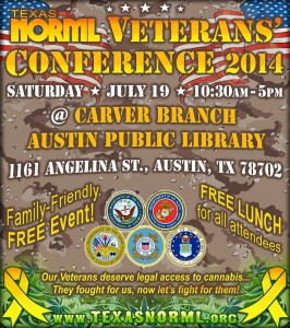 Texas NORML Veterans' Conference 2014